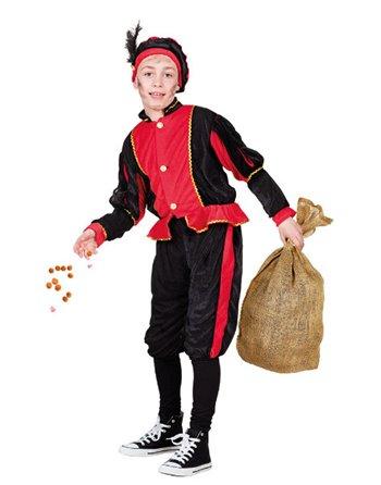 Kinderkostuum Zwarte Piet Rood 7-9 56801